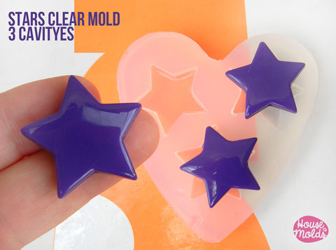 Stars,Shapes,Clear,Mold,27,mm,x,29,,,transparent,to,make,resin,earrings,or,pendants-,easy,use!,Supplies,silicone_mold,clear_mold,mold_for_resin,resin_supplies,pendant_mold,hexagon_mold,clear_mold_bees house cell,earrings_mold,resin_mold,decoration_mold,mold_maker,clear rubber,bees house cell shape mold