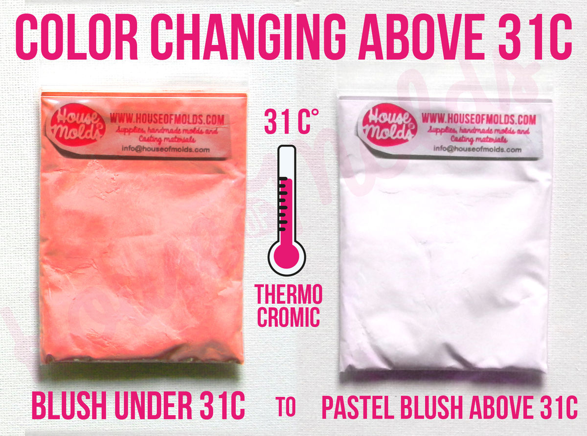 Temperature sensitive-Colour Changing ABOVE 31C°87,8 F° Special Pigments - brights colours under 31C° becomes white pastels above 31C°-Just Magic! - product images  of