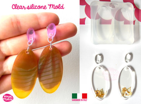 Oval,Flat,Earring,Set+,premade,hole,on,top,Clear,Silicone,Mold,,with,4,cavityes-,perfect,for,any,resin,creations!,Oval mold_Supplies,silicone_mold,clear_mold,mold_for_resin,resin_supplies,pendant_mold,clear_mold_drop,earrings_mold,resin_drop,resin_mold,mold_maker,circle_mold,resin_jewellery_mold,Ear_plugs_mold,clear rubber,6 sizes flat circles