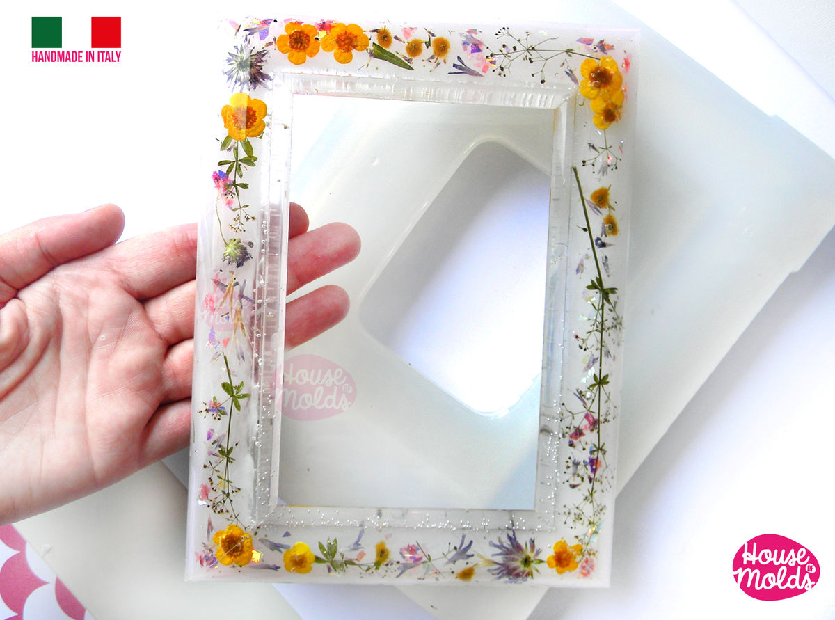 "BIG Smooth Photo Frame Clear Mold - make your custom rectangular  photo frame-15 cm x 20 cm - 3,93"" x 7,87""-super glossy resin reproductions - product images  of"