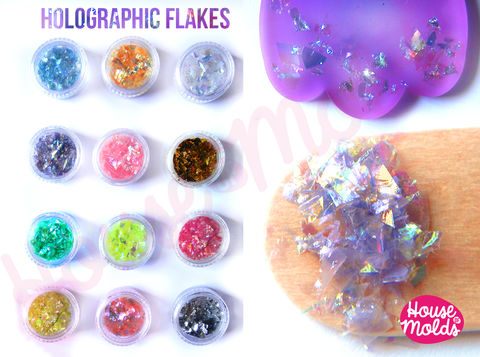 Holographic,Flakes,set,of,12,,sparkly,and,with,amazing,special,effects,flakes,for,resin,or,nail,art-Add,some,magic,to,your,creations!,holographic ,chameleon pigment,chameleon ,thermal sensitive pigments,termochromic pigments 31C,colour changing pigments,special pigments italy,colori temorcromici,pigmenti termocromatici,Supplies,jewelry_resin,resin_crafters,craft_supplies,epoxy_