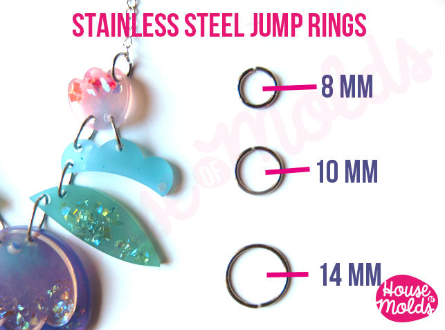 Stainless Steel Jump Rings -very resistant and quickly link your pendant with necklace - product images  of