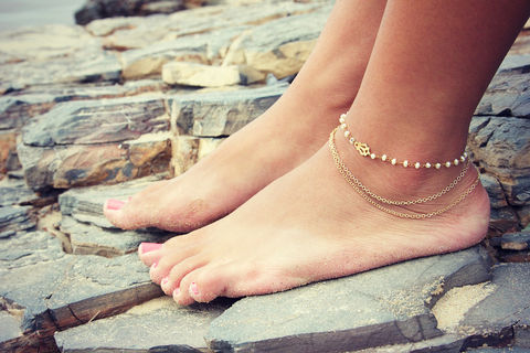 BYSEA,ANKLET-,triple,chain,Pearl,wire,wrapped,with,24k,gold,overlay,Jewelry,Anklet,ANKLET,BRACELET,GOLD,BEACH,FESTIVAL,GYPSY,BELLY_DANCER,BOHEMIAN,ANKLE_JEWELRY,24k_gold_anklet,wedding,bride,wedding_jewelry,VINTAGE CHAIN,GOLD CHAIN,22k gold wire
