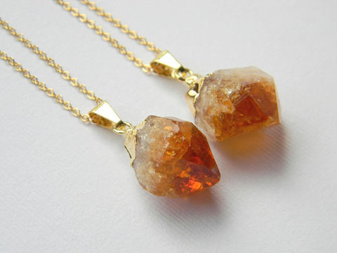 gold,and,citrine,necklace, gold, necklace, gem