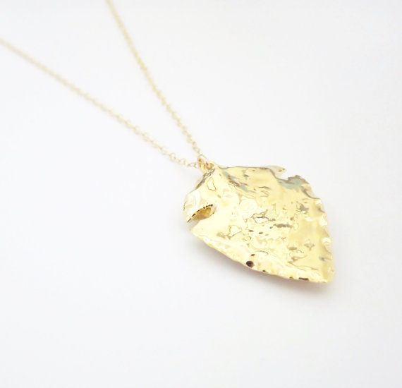 Arrowhead pendant necklace 24kt gold dipped pendant gold filled arrowhead pendant necklace 24kt gold dipped pendant gold filled necklace product images of aloadofball Image collections