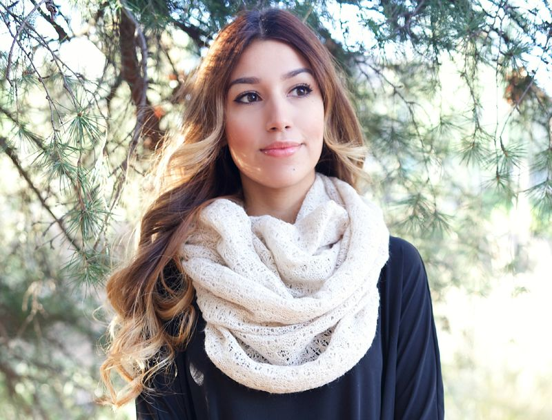Tan boutique scarf - product images  of