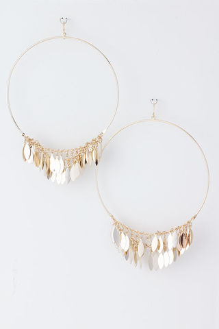 gold,leaf,and,hoop,earrings, jewelry, silver leaf, gold leaf, gold hoop earrings