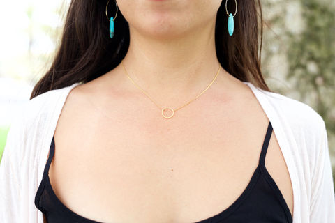 Minimalist,Circle,necklace, gold necklace, circle necklace,