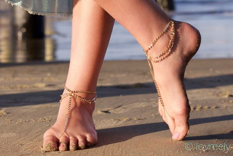 LOVMELY,ANKLET-,gold,chain,foot,anklet,/,barefoot,sandal,Jewelry,Anklet,ANKLET,BRACELET,VINTAGE,GOLD,GYPSY,BELLY_DANCER,CHAIN_ANKLE_PIECE,BOHEMIAN,COSTUME,ANKLE_JEWELRY,foot_jewelry,JAPANESE BEADS,VINTAGE CHAIN,GOLD CHAIN,CHARM
