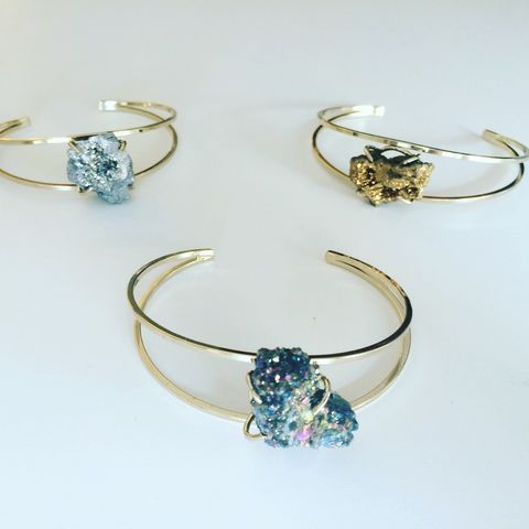 Drusy,quartz,cuffs/bracelet,in,blue,,gold,,silver,bracelet, cuf,fJewelry,Ring,Quartz,druZy,Quartz_rings,Crystal,crystal_ring,Crystal_jewelry,quartz_jewelry,ring,blue,sapphire,gold