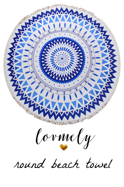 The Malibu Round towel-  round beach towel with tassel accent- Towel / Throw / Yoga mat / Tapestry - product images  of