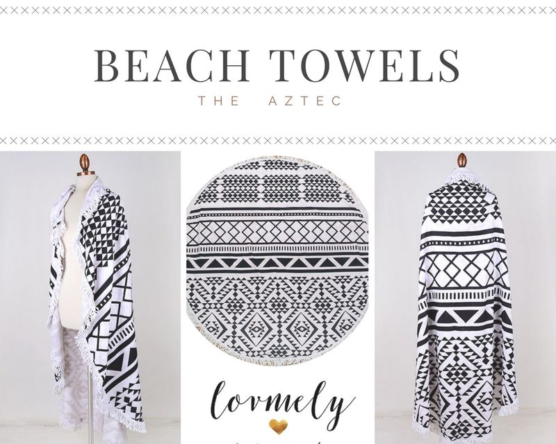The Sierra - round towel with tassel accent- Towel / Throw / Yoga mat / Tapestry - product images  of