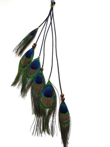 AUDREY-,Peacock,feather,extension,clip,Accessories,Hair,Clip,long_earrings,feather_earring,boho,feather_extension,kesha,feather_hair_clip,long_feather_earring,peacock,bead,boutique,falls,long_feather_clip,chain,hook,wire