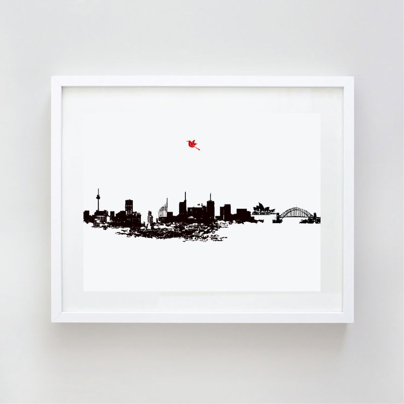 sydney city skyline fine art print home decor harbour sydney home d 233 cor shop room d 233 cor store campbelltown sydney