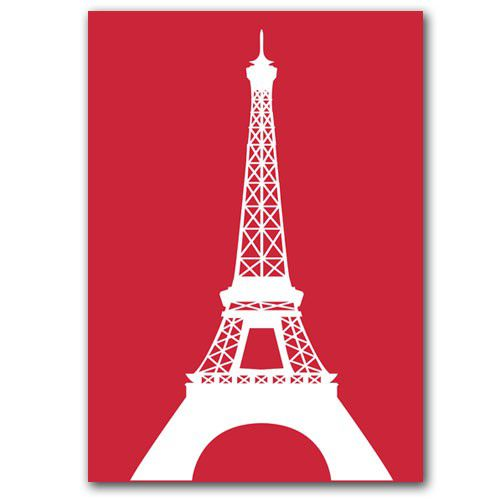 Eiffel Tower Silhouette Pink Eiffel Tower Silhouette Pink