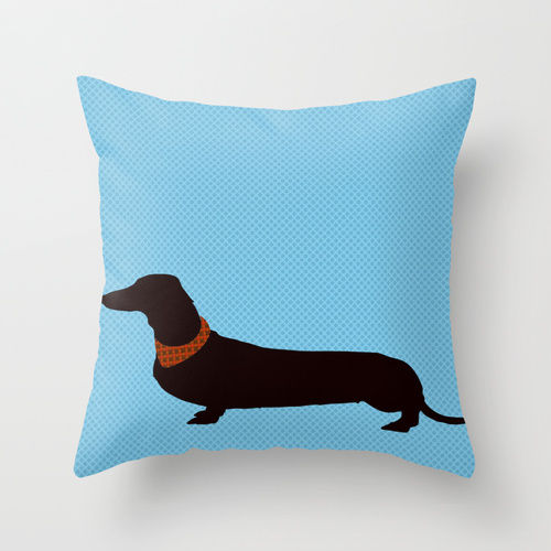 Decorative Pillow With Dog : Dachshund Dog Cushion Cover 45 x 45cm - Dachshund cushion covers, throw pillows, dog pillows ...