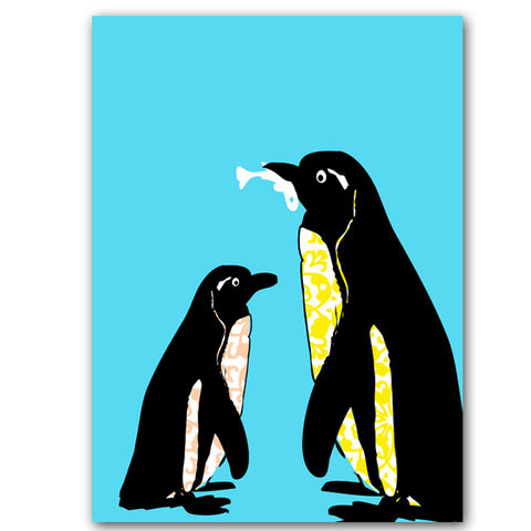 Youngandoldpenguinstogetherbabynurserydecordecoratingideas