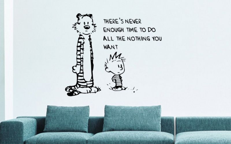 CALVIN and HOBBES | There's Never Enough Time To Do All The Nothing You Want - product images  of
