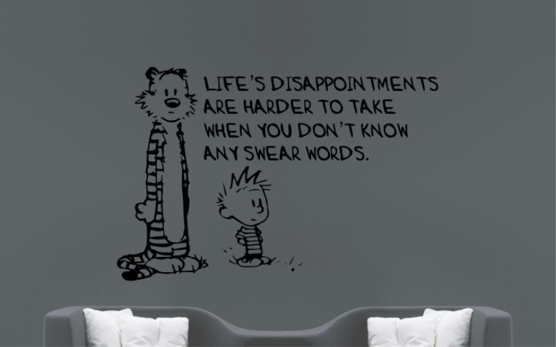 CALVIN and HOBBES | Life's Disappointments Are Harder To Take When You Don't Know Any Swear Words - product images  of