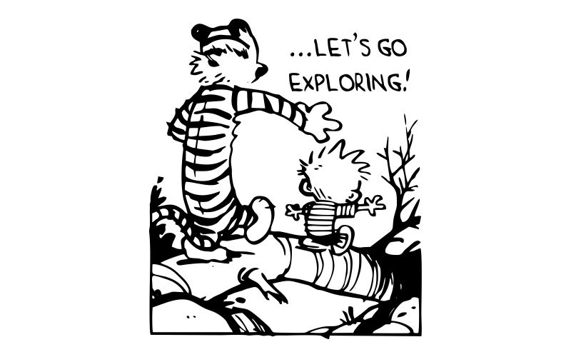 CALVIN and HOBBES | Let's Go Exploring  - product images  of