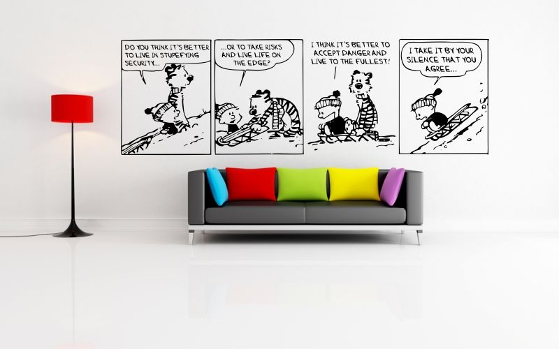 CALVIN and HOBBES | LIVE LIFE ON THE EDGE - product images  of