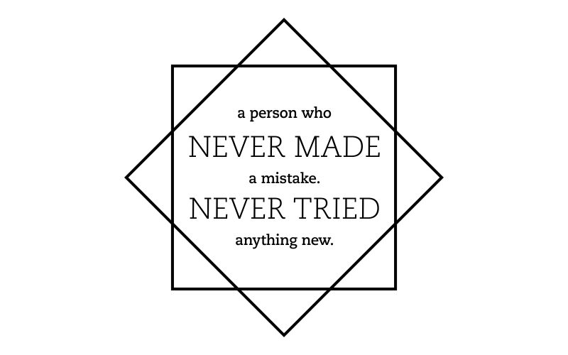 A PERSON WHO NEVER MADE A MISTAKE. NEVER TRIED ANYTHING NEW. - product images  of