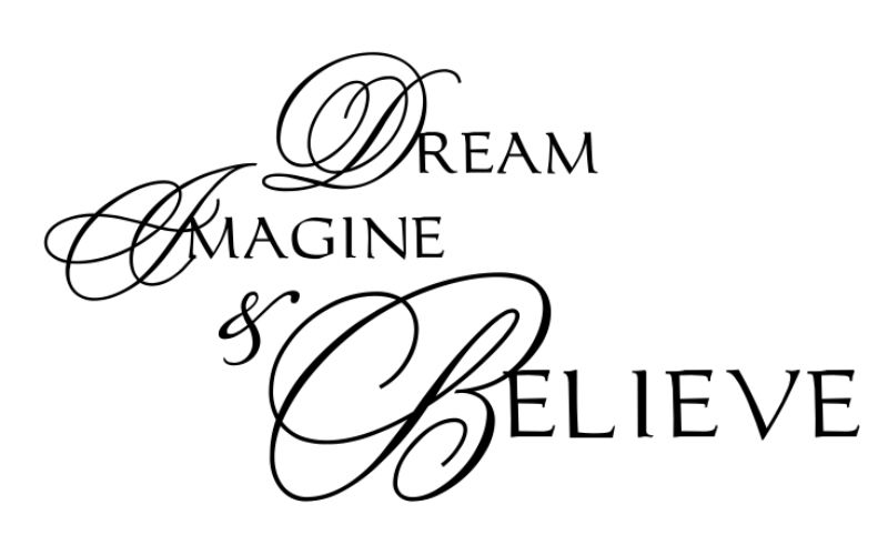 DREAM IMAGINE & BELIEVE - product images  of