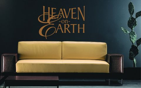 HEAVEN,ON,EARTH,home, wall art, decor, family, vinyl, design, fun, love, stickyedge, stickyedge.co.uk, always, forever