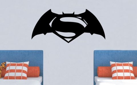 BATMAN,v,SUPERMAN,home, wall art, decor, family, vinyl, design, fun, love, stickyedge, stickyedge.co.uk
