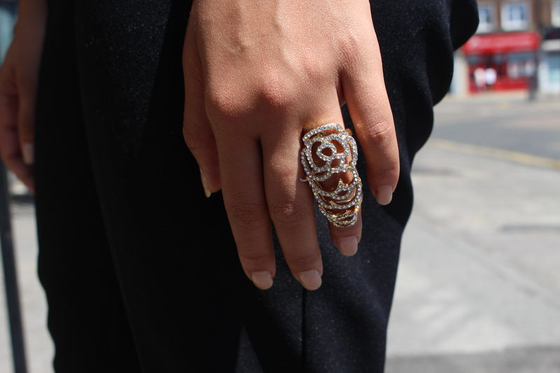 Crystal Knuckle Finger Ring - product images  of