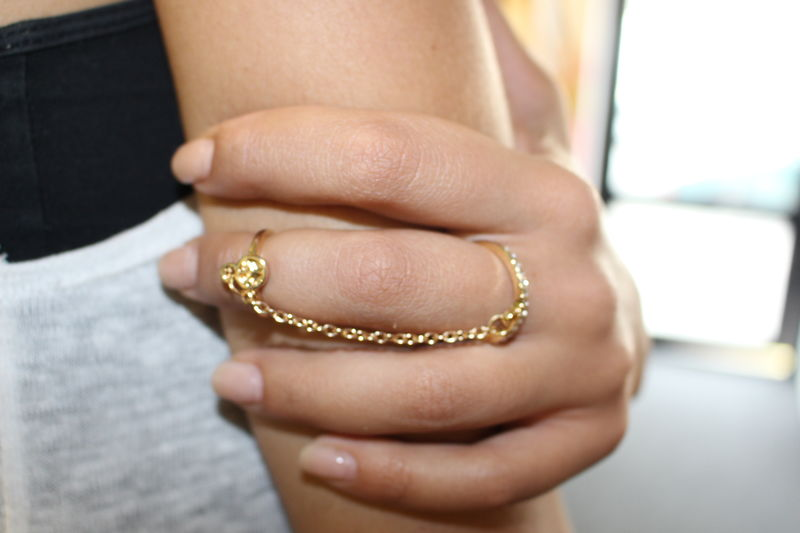 Mini Peace Chain Ring - product images  of