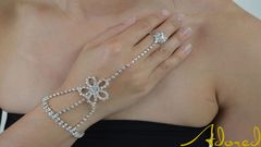 Daisy,Hand,Chain, hand chain, daisy hand chain, rhinestone, jewelry, jewellery, silver hand chain, silver