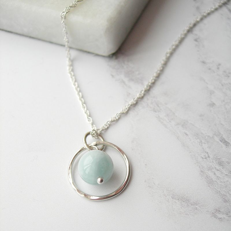 Aquamarine Birthstone Necklace - product images  of