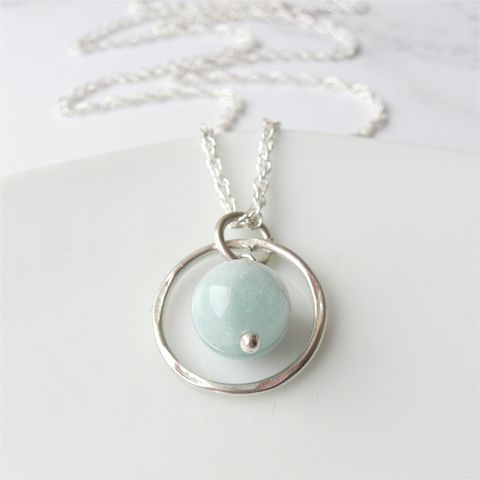 Aquamarine,Birthstone,Necklace