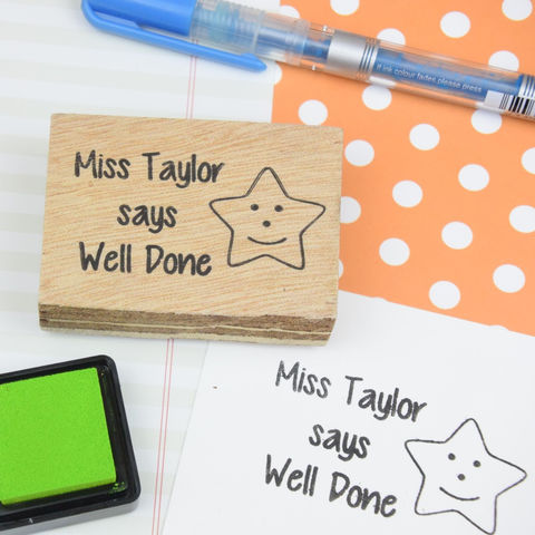 Personalised,Teacher,Stamp,-,your,name,and,message,Supplies,Scrapbooking,stamp,handmade,cards,stationery,embellishment,personalized,custom,clear_stamp,kids,teacher,classroom,marking,languages,gel,image,light,time