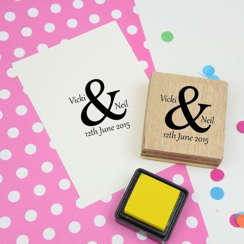 Custom,or,Personalised,Ampersand,Couple,Stamp,-,Wooden,Block,Supplies,Scrapbooking,stamp,uk,cards,stationery,embellishment,personalized,custom,customized,valentine,wedding,anniversary,wooden,ampersand,gel,image,light,time