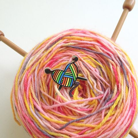Heart,Knitting,Pin