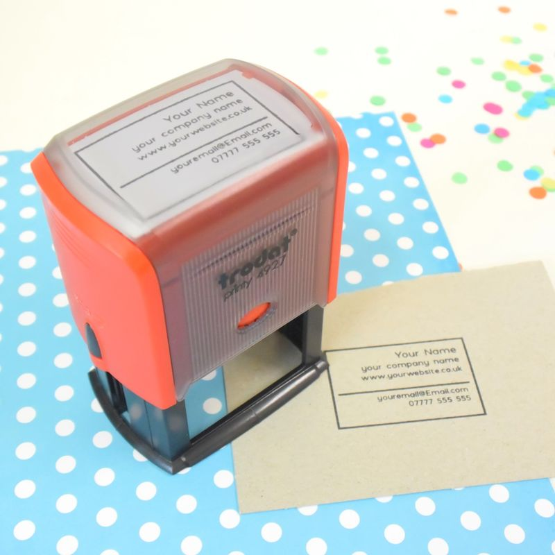 Self Inking - business card stamp - eco business card - The Serious ...