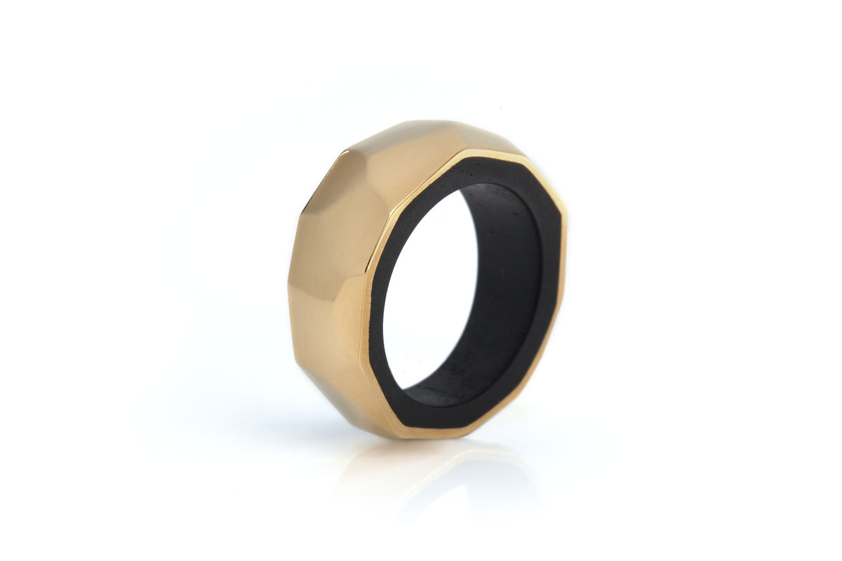 Blackwood and 22ct yellow gold ring - to order only - product images  of