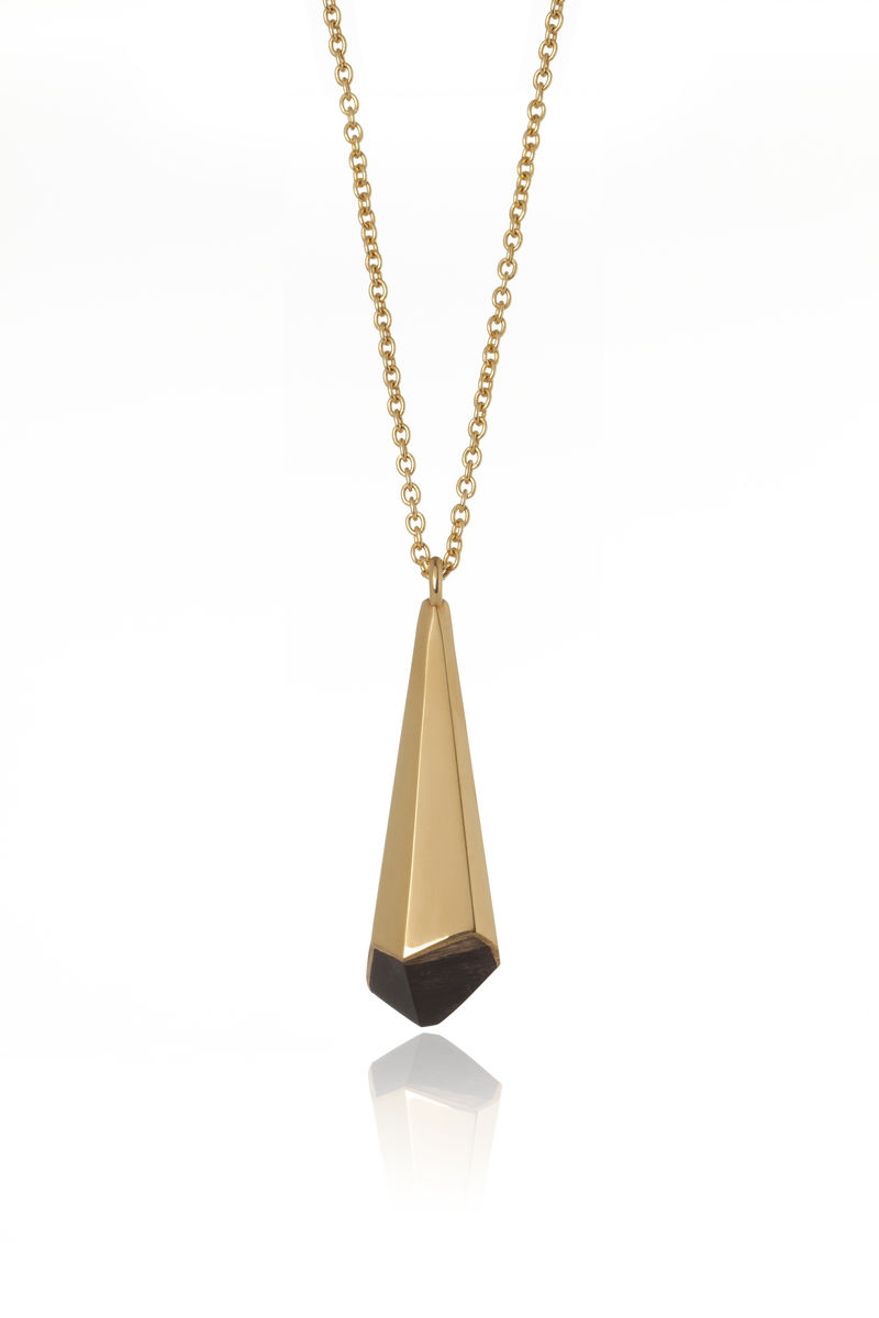 Blackwood and 22ct yellow gold pendant - to order only - product image