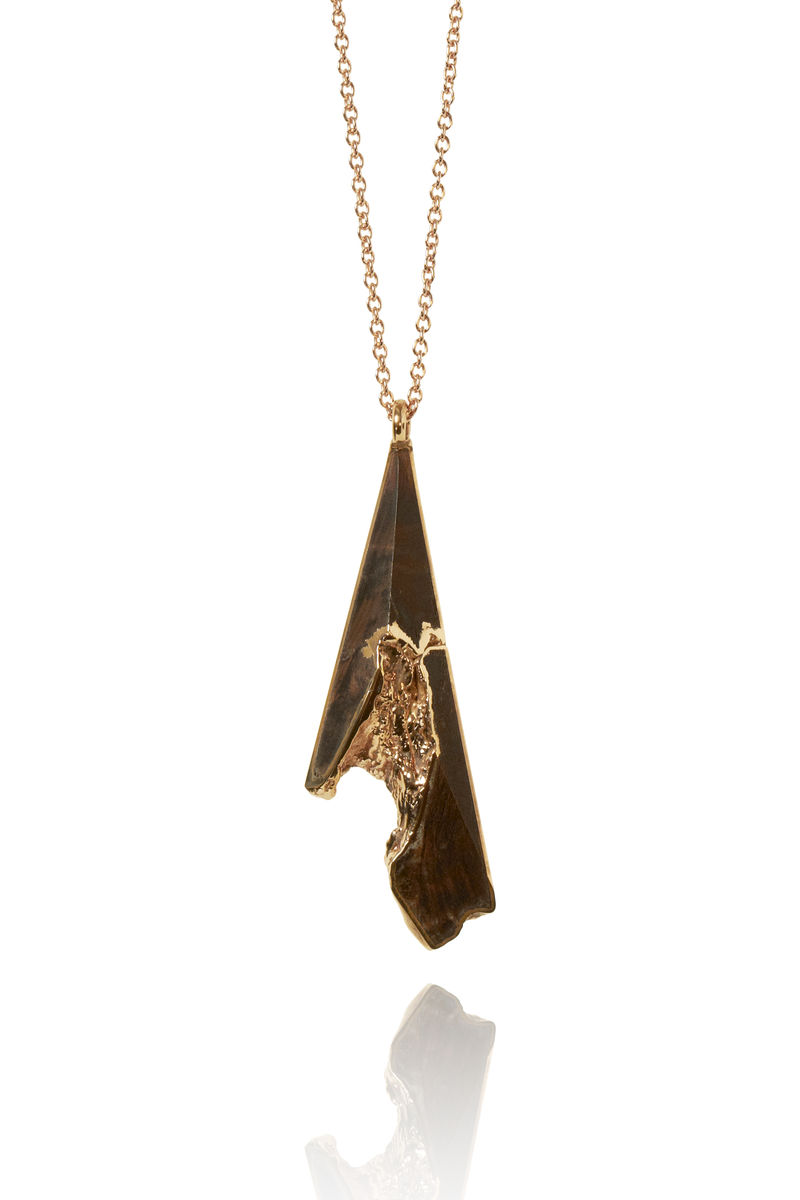 Cedar ember and rose gold pendant - to order only - product image