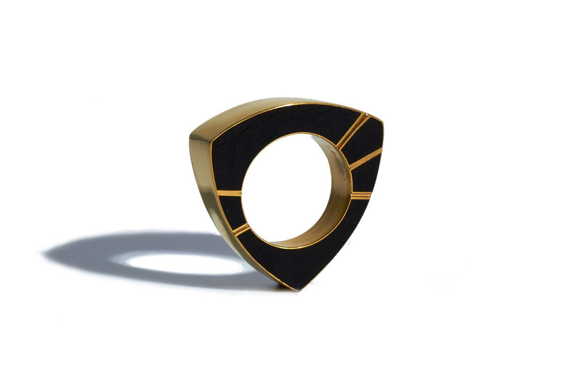 Blackwood and gold ring - made to order only - product images