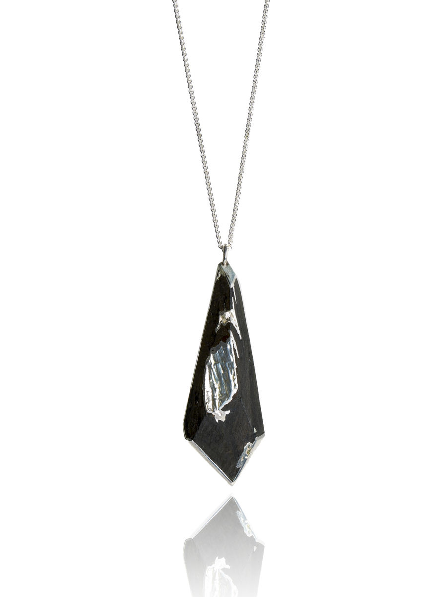 Bog oak and silver pendant - to order only - product image