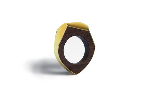 Mguru,and,gold,ring,gold ring, wood ring, men's ring, faceted ring