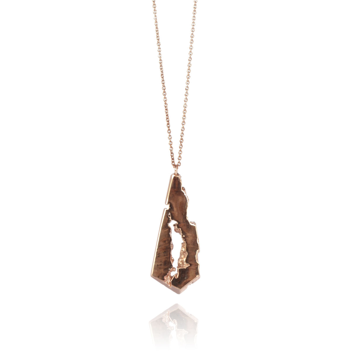 Cherry wood finished in 22ct rose gold  - product images  of