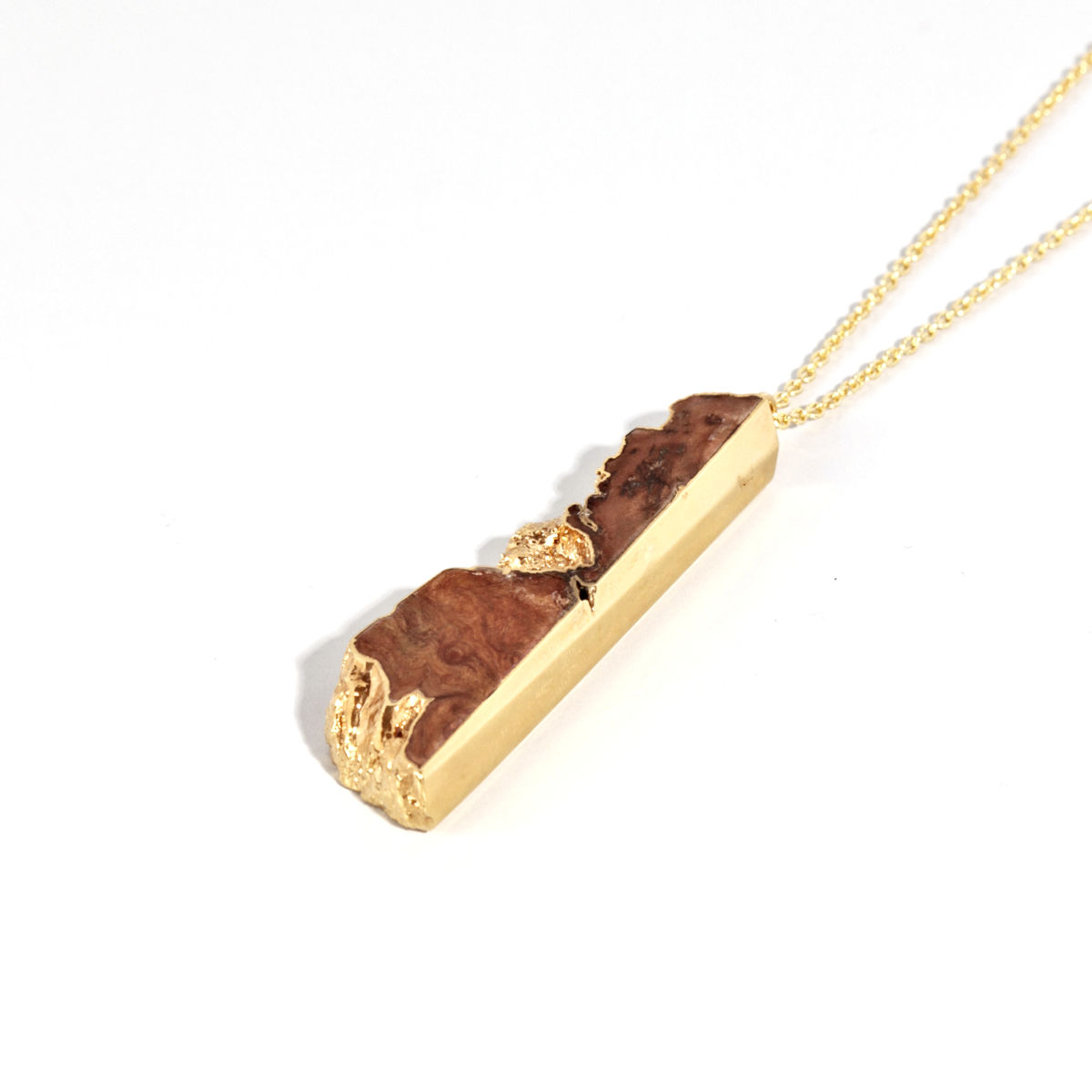 Old English Oak and 22ct yellow gold pendant - product images  of