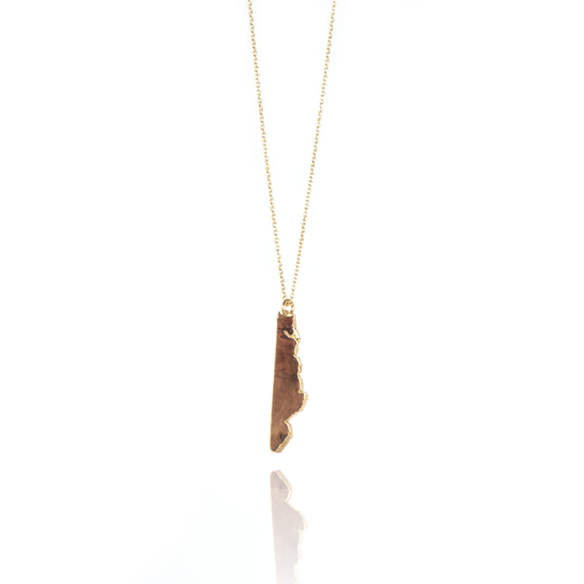 Old English Oak pendant finished in 22ct yellow gold - product images  of