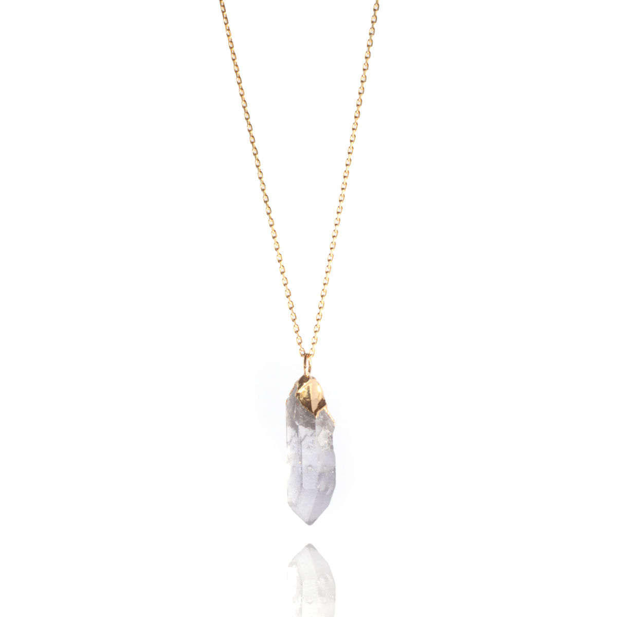 Smokey Quartz and  22ct yellow gold pendant - product image