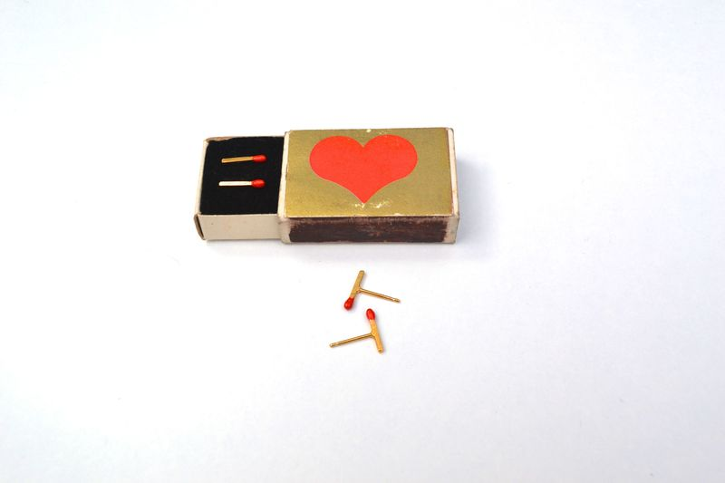 Gold Matchstick earrings *as seen in GRAZIA - product images  of