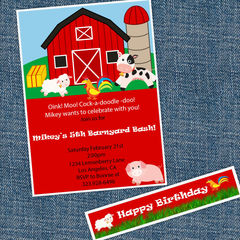 Barnyard,Invitations,and,water,bottle,Paper_Goods,Barn_Invitations,Country_Invitations,Farm_Invitations,Farm_animals,Barnyard_party,Old_McDonald,Turkey_Invitations,Fifth_Birthday,Birthday_Party_theme,Little_Boy's_party,Invitation_package,Birthday_Invites,Barn_party